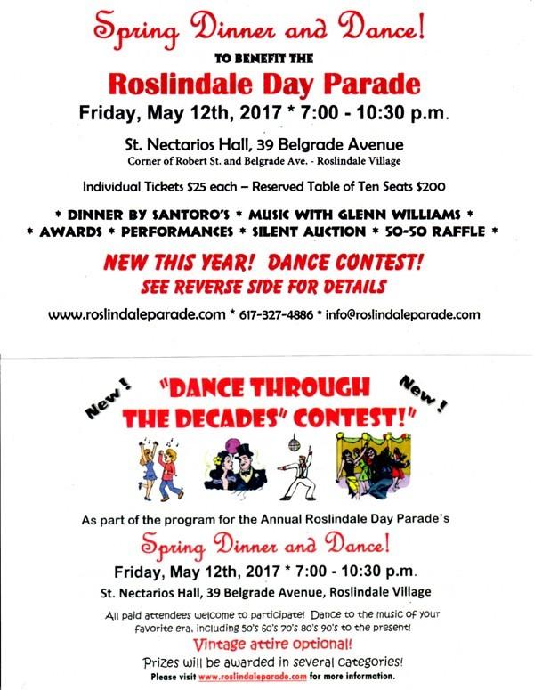 Roslindale Parade Dinner & Dance Flyer